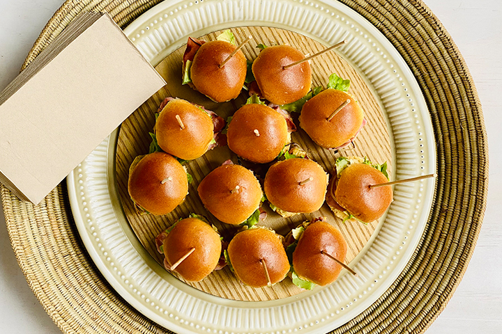 Easy Mustard Ham Avocado Sliders